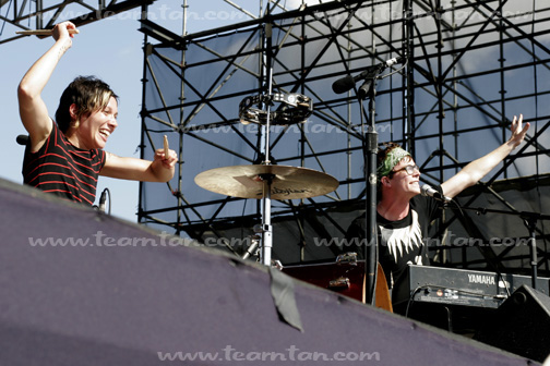 Matt + Kim at Jelly NYC's McCarren Park Pool Party