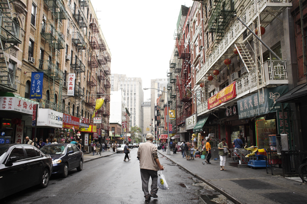 Bayard at Elizabeth Street in Chinatown, NYC
