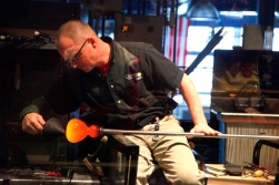 Glass making demonstration at the Corning Museum of Glass, NY