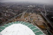 View from the Olympic Stadium In Montreal, Canada, Monday, 4 April, 2011