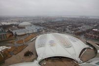 View from the Olympic Stadium of Biodome In Montreal, Canada, Monday, 4 April, 2011