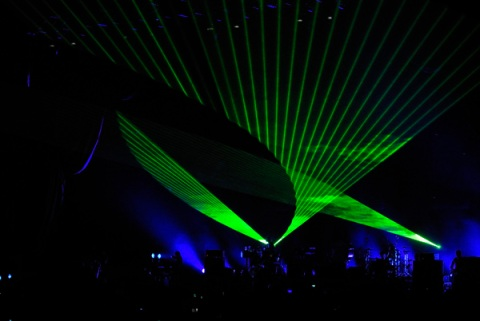 Light show during 'Sorted For E's & Wizz'