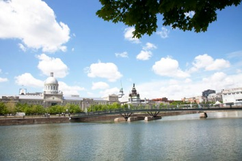 View from Bassin Bonsecours, Montreal, Canada.