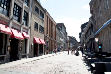 Street scene in Old Montreal