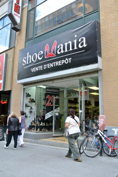 This Shoe Mania is alot smaller than New York's Shoe Mania
