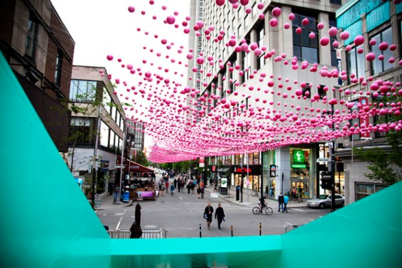 Aires Libres, in the Village section, Rue Saint-Catherine, Montreal, Canada