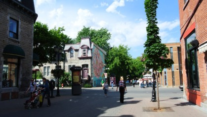 Rue Prince Arthur and Bullion, Montreal, Canada