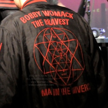Richard Russell Wearing a Bobby Womack Jacket