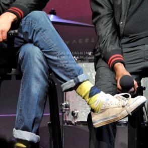 Damon Albarn's Argyle Socks