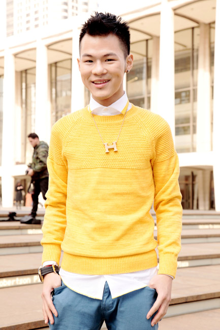 Yellow sweater by Lin Louie