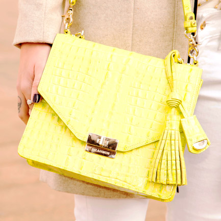 Yellow purse by Brahmin