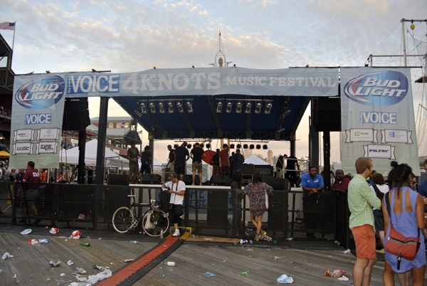 Pier 17 Stage at the end of the festival.