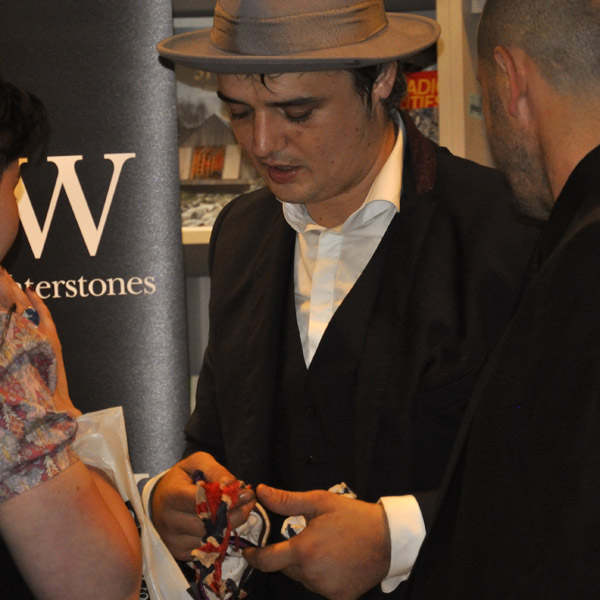 Pete Doherty Book Signing at Waterstones