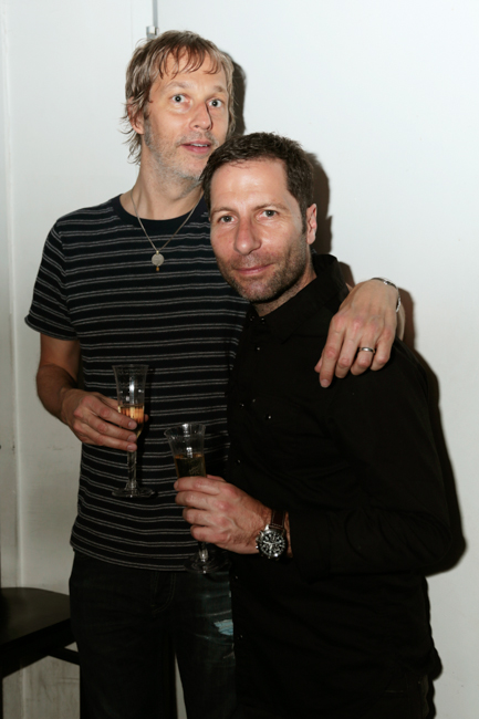 June 4, 2015: Andy Bell, Steve Queralt at the afterparty for Ride at Terminal 5 in New York City. Mandatory Credit: Tear-n Tan 2015 © Tan.  All Rights Reserved. www.tearntanfiles.com www.tearntan.com