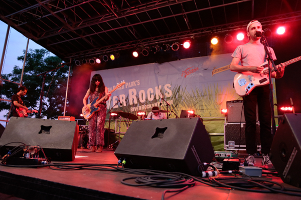 August 6, 2015: Yuck and U.S. Girls perform at the final Hudson RiverRocks show of the summer at Pier 84 in New York City. Mandatory Credit: Tear-n Tan 2015 © Tan.  All Rights Reserved.