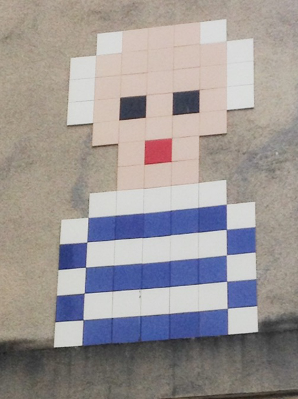 Picasso Street Art by Space Invader