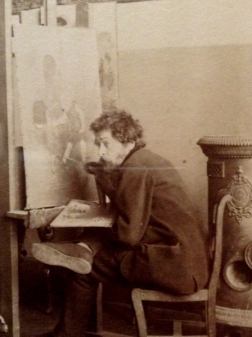 Charles-Henri Pille, Paris, 1880 by Edmond Benard