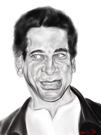 Lou Ferrigno Portrait Created via Procreate on the iPad